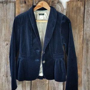 J Crew navy blue velvet blazer